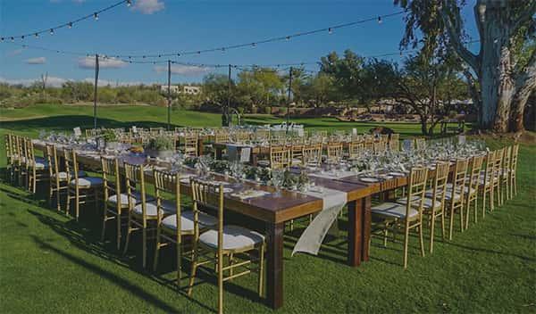 outdoor reception in field